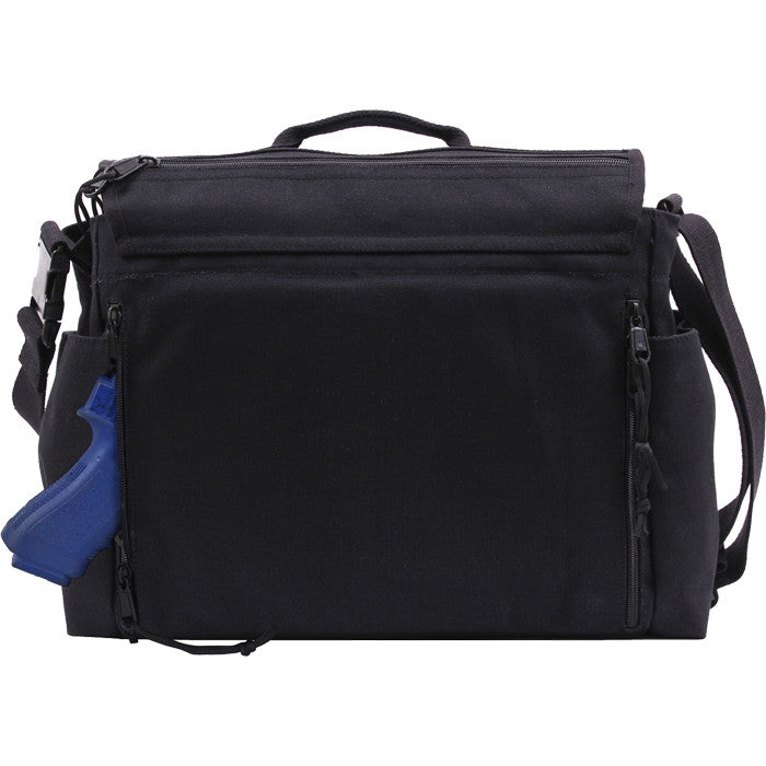 Black - Concealed Carry Messenger Bag