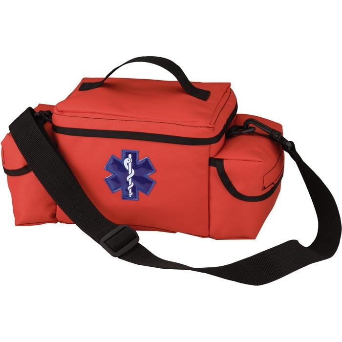 Orange - Public Safety Medical Rescue Bag with Star of Life Emblem