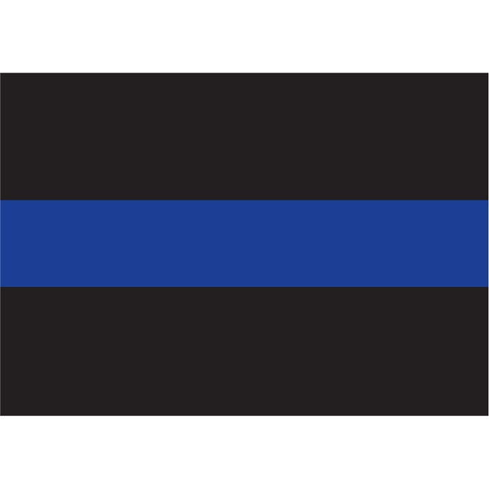 Thin Blue Line Sticky Back Decal (Back-Gum)