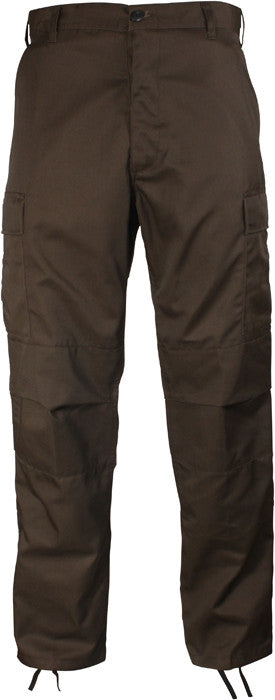Brown - Military BDU Pants - Polyester Cotton Twill
