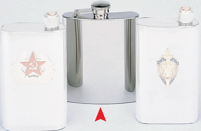Silver - Shiny Flask - Stainless Steel
