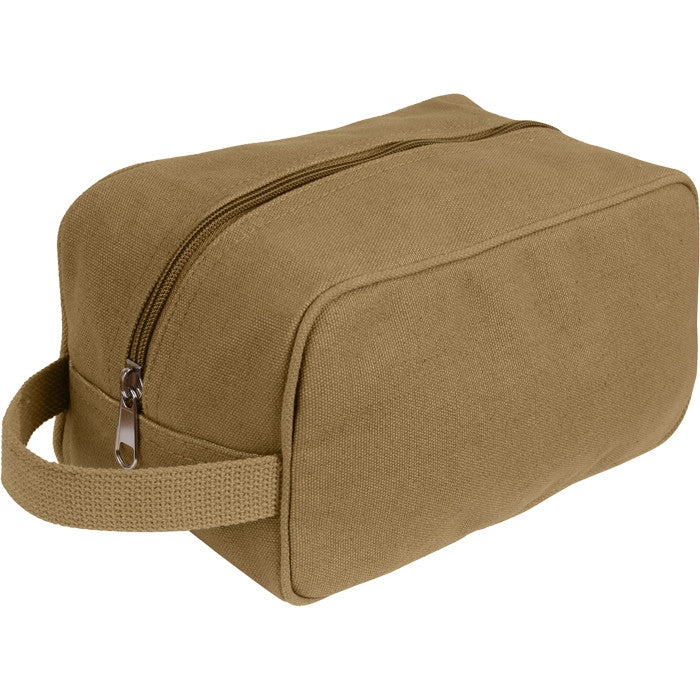 Coyote Brown - US Army Style Travel Kit Case (Cotton Canvas)