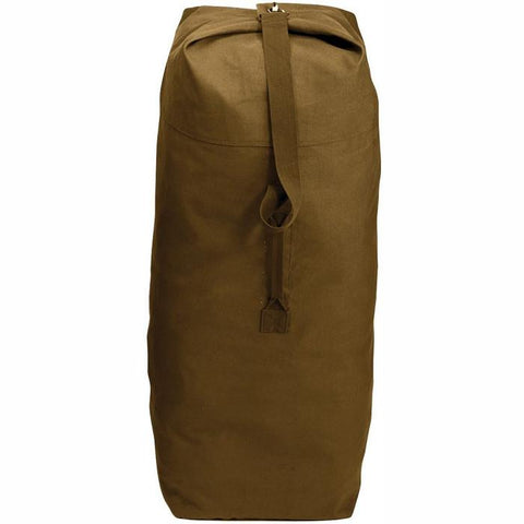 Coyote Brown - Military Large Top Load Duffle Bag 25 in. x 42 in. - Cotton Canvas