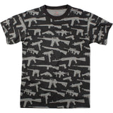 Black - Vintage Guns & Rifles Military T-Shirt