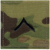 Multicam Camouflage - Military Private Insignia Patch PVT
