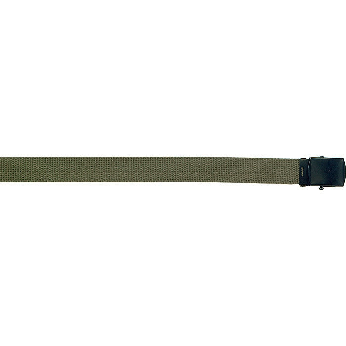 Olive Drab - Military Web Belt - Black Buckle