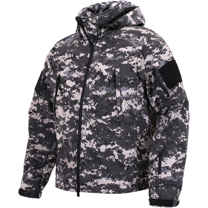 Subdued Urban Digital Camouflage - Tactical Special Operations Soft Shell Jacket