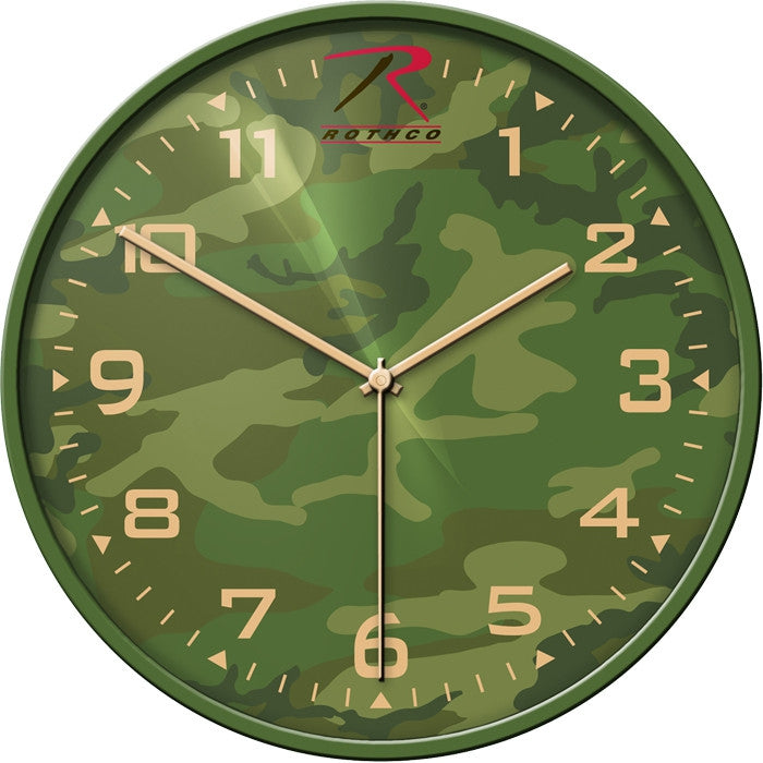 Woodland Camouflage - Tradition Military Wall Clock