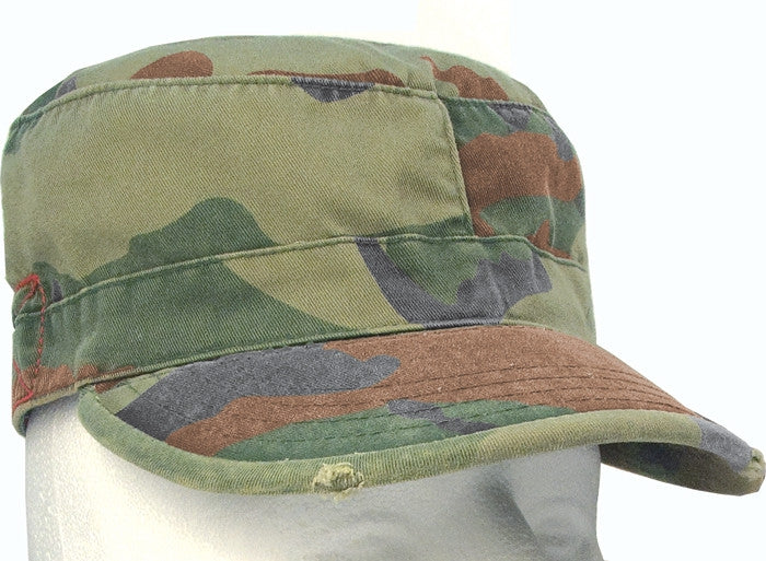 Woodland Camouflage - Military Vintage Fatigue Cap