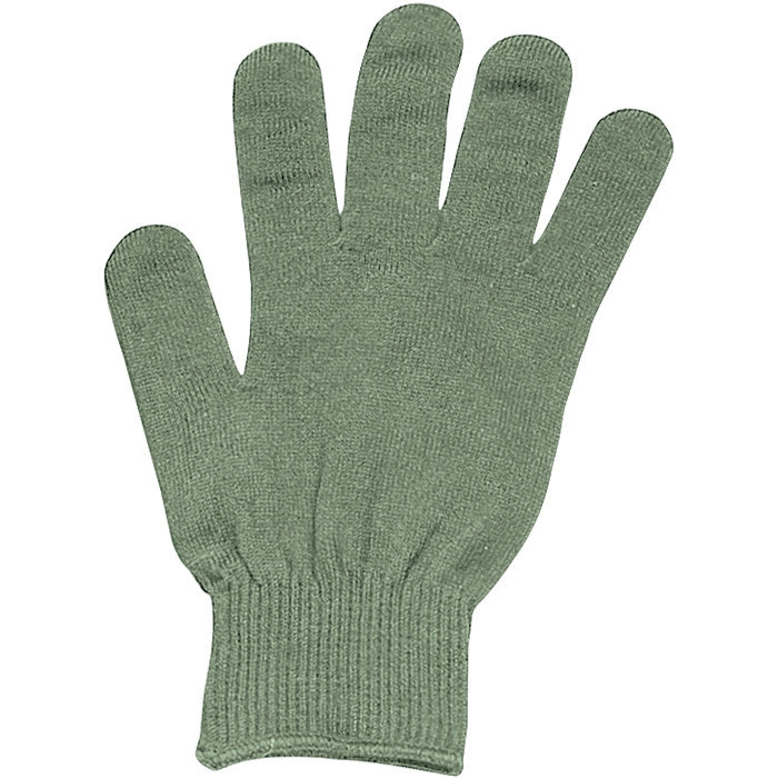 Olive Drab - Genuine GI Glove Liners - Polypropylene USA Made