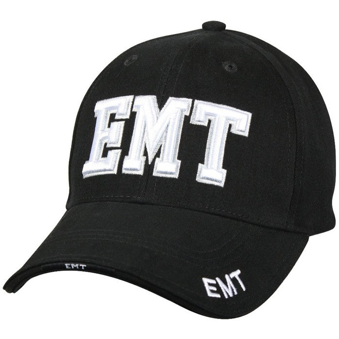 Black - Public Safety EMT Deluxe Adjustable Cap