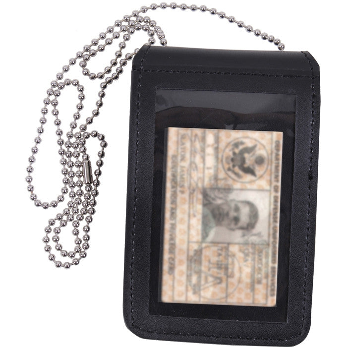 Black - Universal Leather Badge & ID Holder