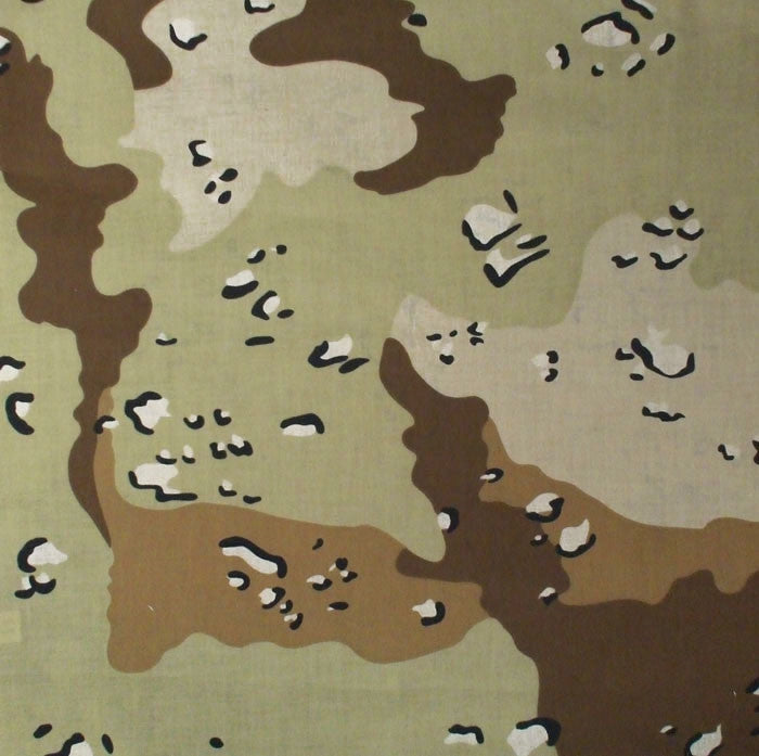 Desert Camouflage Six-Color - Military Jumbo Bandana 27 in. x 27 in.