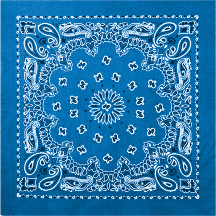 Royal Blue - Trainmen Bandana 22 in. x 22 in.