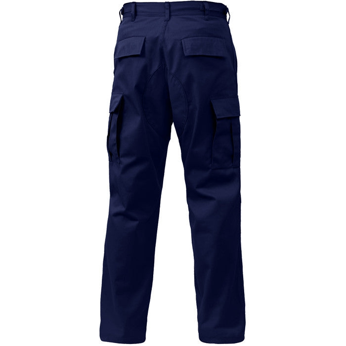 Midnight Blue - Military BDU Pants with Zipper Fly - Polyester Cotton Twill