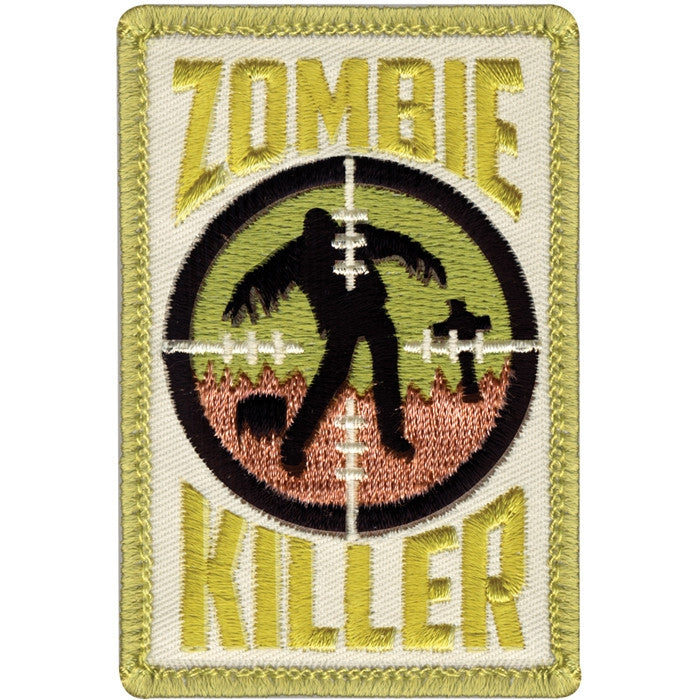Zombie Killer Patch with Hook Back