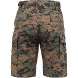 Digital Woodland Camouflage - Military Cargo BDU Shorts - Polyester Cotton Twill