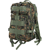 Digital Woodland Camouflage - Military MOLLE Compatible Medium Transport Pack