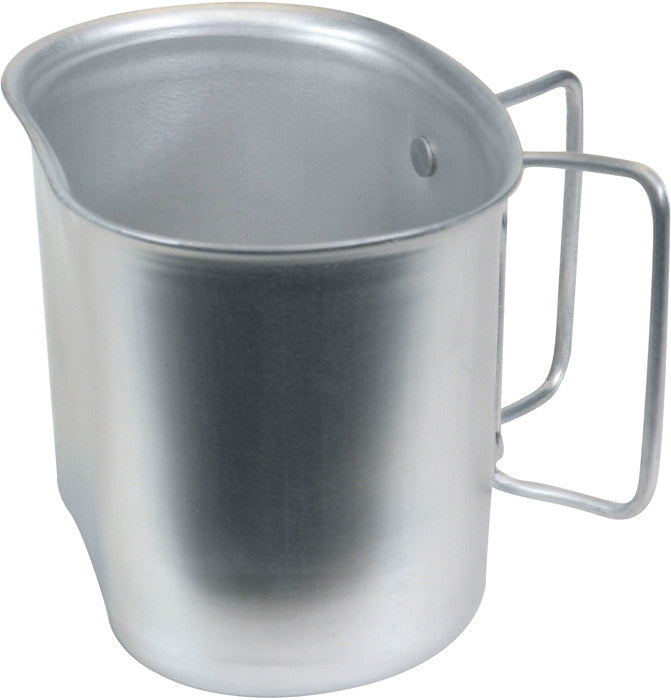 Aluminum Military GI Style 1 Quart Canteen Cup with Butterfly Handle