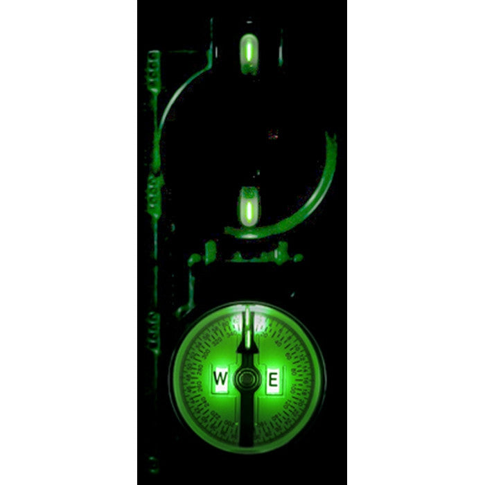 Olive Drab - Government Issued Special Lensatic Tritium Compass Glow-in-the-Dark - USA Made 3HJP