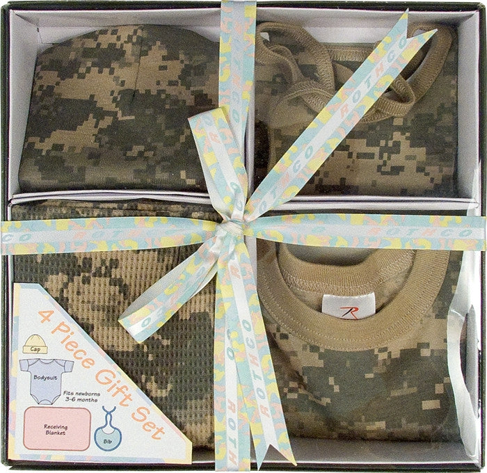 ACU Digital Camouflage - Military Style Infant Gift Set