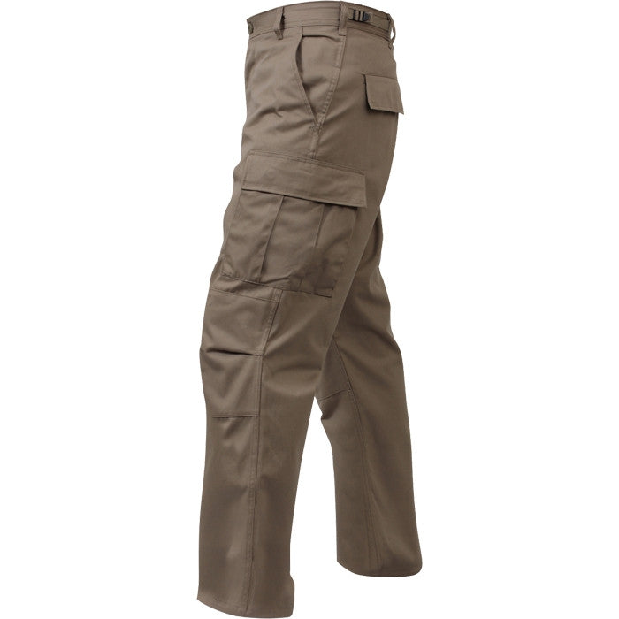 Khaki - Military BDU Pants - Cotton Ripstop