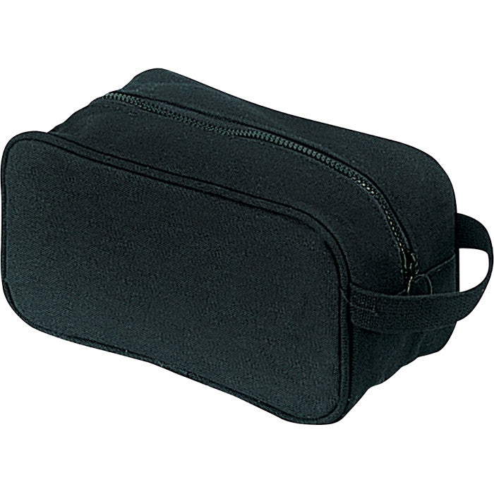 Black - US Army Style Travel Kit Case - Cotton Canvas