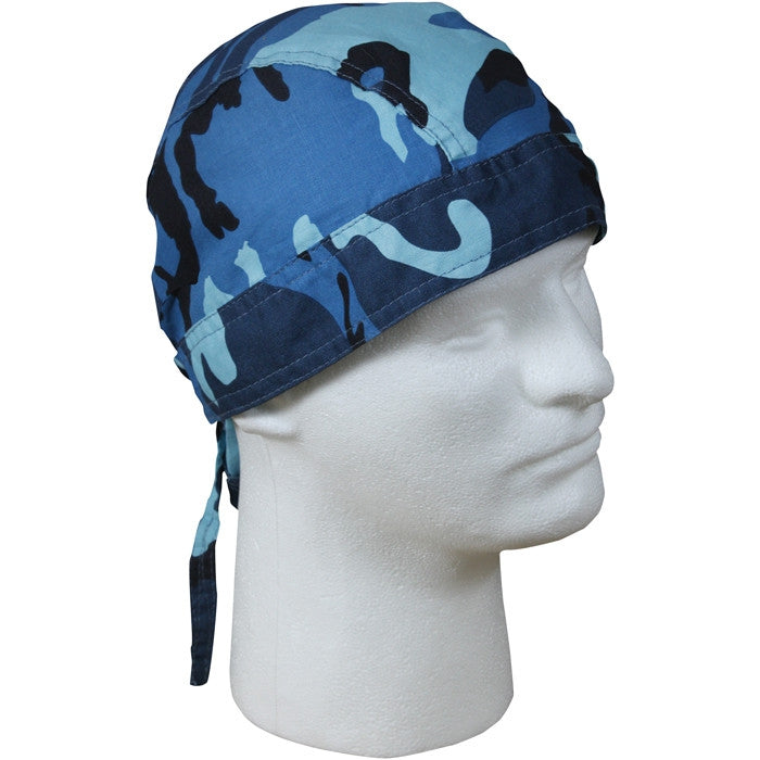 Sky Blue Camouflage - Military Headwrap