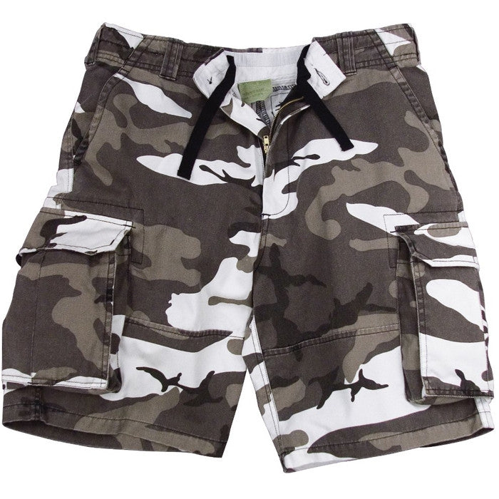 City Camouflage - Military Vintage Paratrooper Cargo Shorts