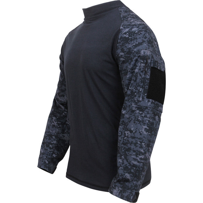 Digital Midnight Camouflage - Military Tactical Lightweight Flame Resistant Combat Shirt