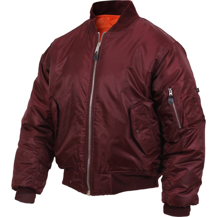 Maroon - Air Force MA-1 Bomber Flight Jacket