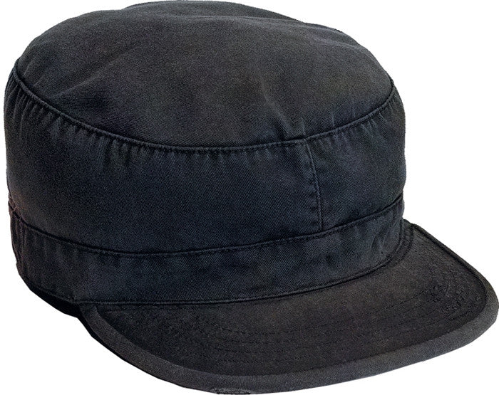 Black - Military Vintage Fatigue Cap