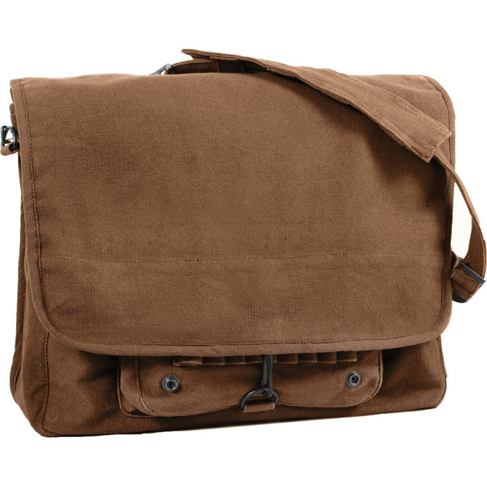 31b47a82cb Earth Brown - Stone Washed Vintage Army Paratrooper Shoulder Bag ...