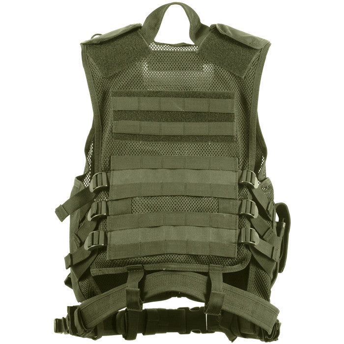 Olive Drab - MOLLE Compatible Cross Draw Tactical Vest
