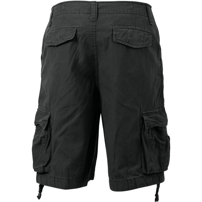 Black - Vintage Military Infantry Utility Shorts