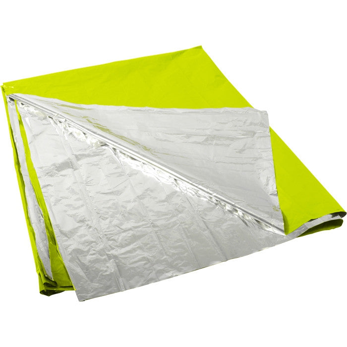 Safety Green / Silver - Polarshield Lightweight Survival Blanket