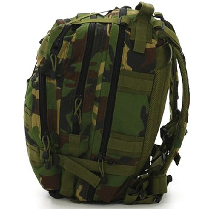 Woodland Camouflage - Military MOLLE Compatible Medium Transport Pack
