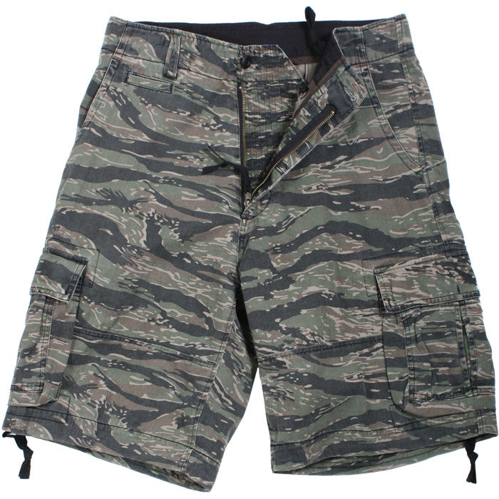 Tiger Stripe Camouflage - Vintage Military Infantry Utility Shorts