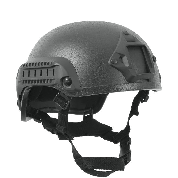 Black - Military Style Base Jump Airsoft Helmet