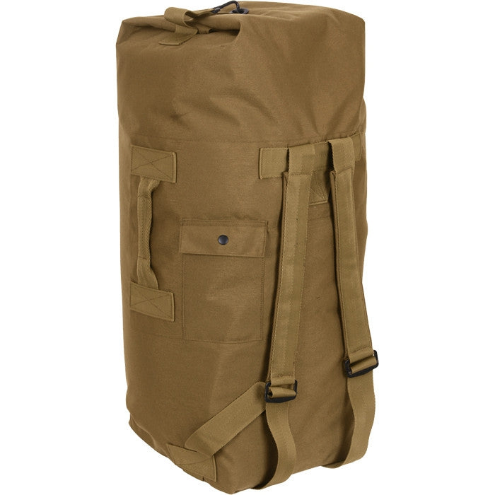 Coyote Brown - Military Enhanced Double Strap Duffle Bag 24 in. x 36 in. (Cordura Nylon)