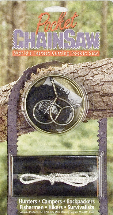 Genuine GI Military Pocket Chain Saw - USA Made