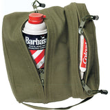 Olive Drab - Dual Compartment Travel and Shave Kit Bag - Cotton Canvas