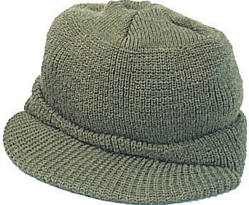 Olive Drab - Genuine GI Jeep Cap - Wool USA Made