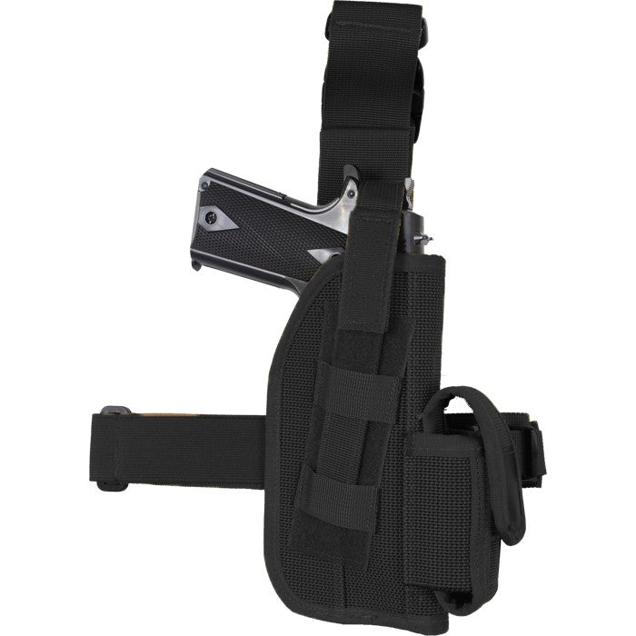 Black - Tactical 5 in. Drop Leg Beretta Holster