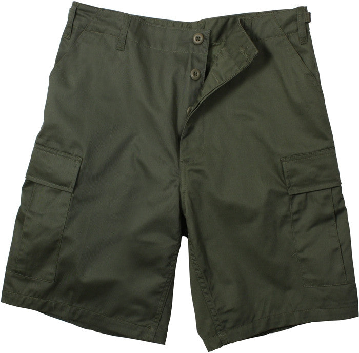 Olive Drab - Military Cargo BDU Shorts - Cotton Ripstop