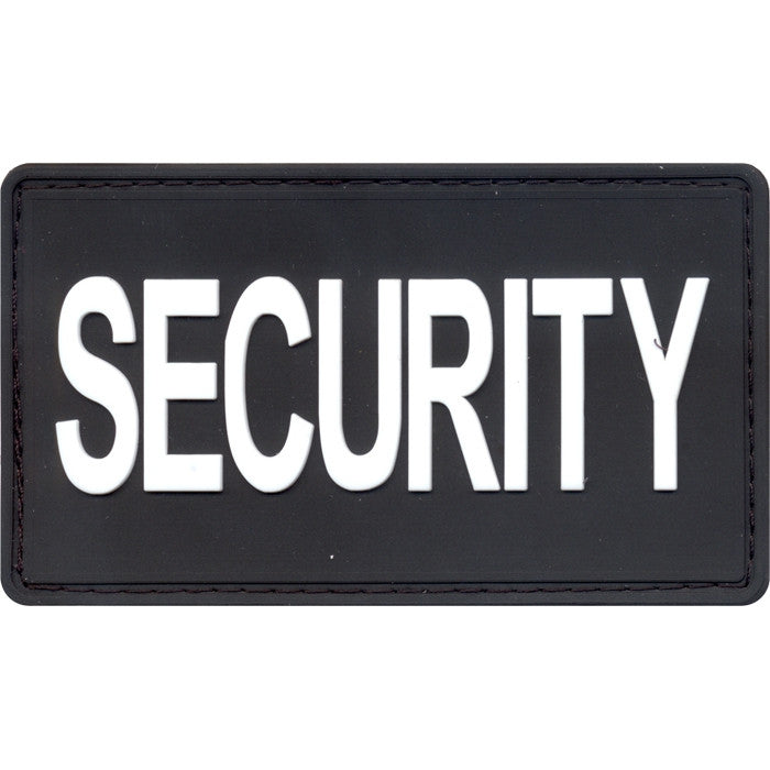 Black - PVC Security Patch with Hook Back