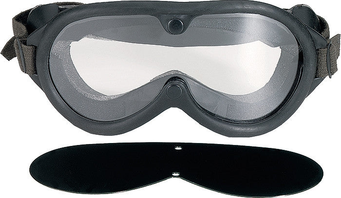 Black - Military GI Style Sun-Wind-Dust Goggles