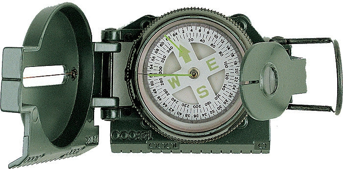 Olive Drab - Army Style Marching Lensatic Compass