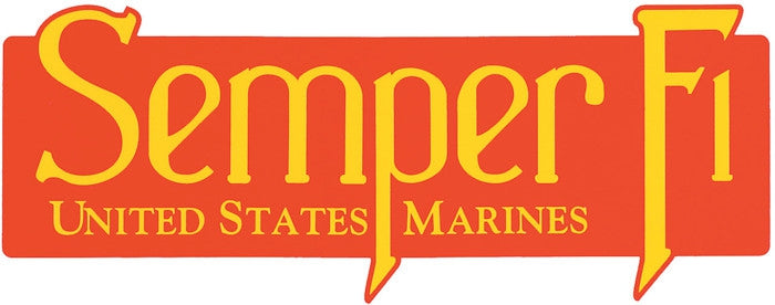 US MARINES SEMPER FI Window Sticker Decal