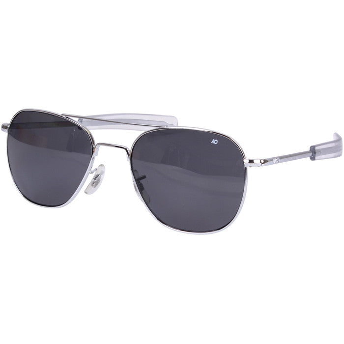 American Optical Chrome Polarized Genuine GI 55mm Air Force Pilots Sunglasses